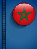 Morocco Flag Button in Jeans Pocket