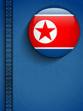 North Korea Flag Button in Jeans Pocket