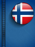 Norway Flag Button in Jeans Pocket