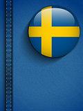 Sweden Flag Button in Jeans Pocket