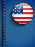 USA Flag Button in Jeans Pocket