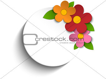 Beautiful Spring Flowers White Background