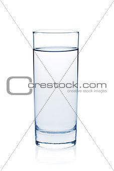 Soda water in glass