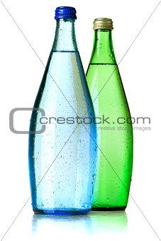 Two bottles of soda water