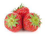 Three strawberry fruits