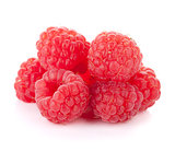 Fresh raspberry heap