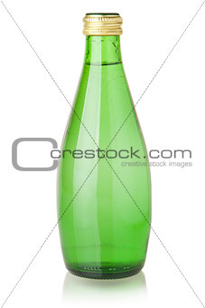 Soda water in glass bottle
