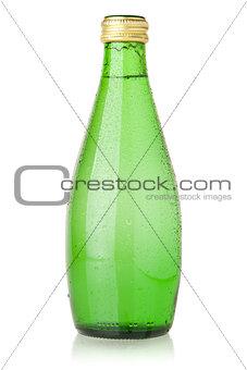 Soda water in glass bottle