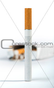 Cigarette on the foreground