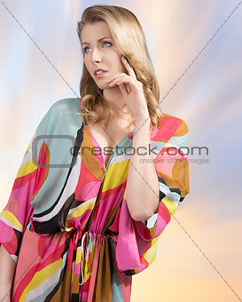 fashion woman with summer dress