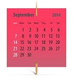 Calendar for September 2014