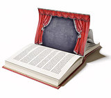 Theater stage as a book