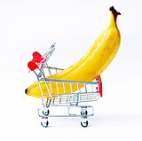 cart with  banana
