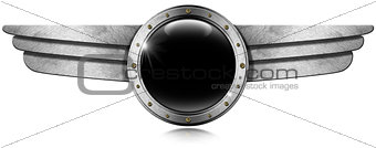 Metallic Porthole with Metal Wings