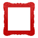 Red ornate frame