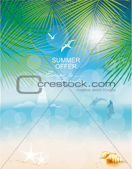 Seascape backgrounds. Vector Illustration.