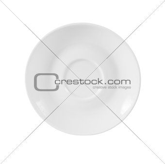 small plate isolated on white with clipping path included