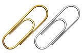metal paper clip set isolated with clipping path included