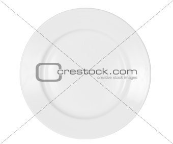 bright plate isolated on white with clipping path included