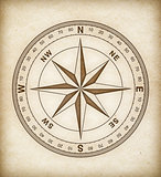 compass rose on old paper