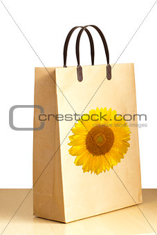 Sunflower paper bag