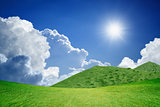 Sunny day, green hills