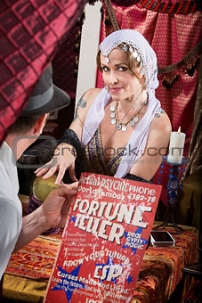 Customer with Fortune Teller