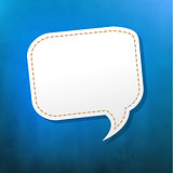 Blue Texture With Speech Bubble