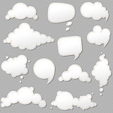 Speech Bubbles Set With Grey Background