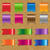 Web Color Ribbons Big Set With Cork