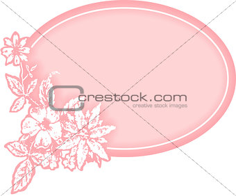 Baby girl flower gift tag
