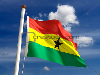 Ghana flag (with clipping path)