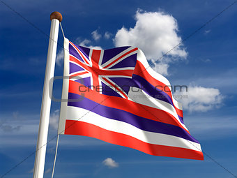 Hawaii flag (with clipping path)