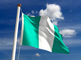 Nigeria flag (with clipping path)
