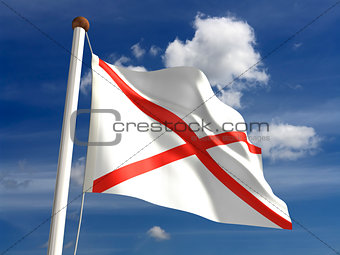 Alabama flag (with clipping path)