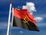 Angola flag (with clipping path)