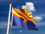 Arizona flag (with clipping path)