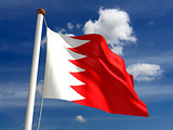 Bahrain flag (with clipping path)
