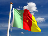 Cameroon flag (with clipping path)