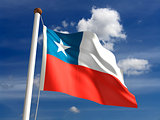 Chile flag (with clipping path)