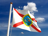 Florida flag (with clipping path)