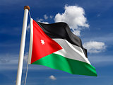 Jordan flag (with clipping path)