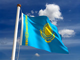 Kazakhstan flag (with clipping path)