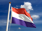 Luxembourg flag (with clipping path)