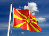 Macedonia flag (with clipping path)