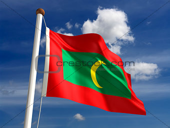 Maldives flag (with clipping path)