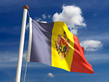 Moldova flag (with clipping path)
