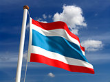 Thailand flag (with clipping path)
