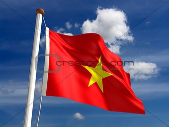 Vietnam flag (with clipping path)