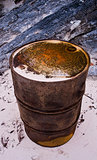 Rusty Oil Drum